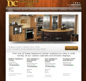 Web Design with custom galleries for a Custom Kitchen Cabinets and Laundry Rooms company in Houston Texas
