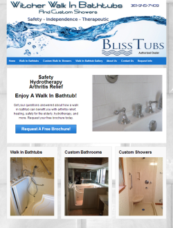 Custom Website Header Graphics for a walk in bathtub company.